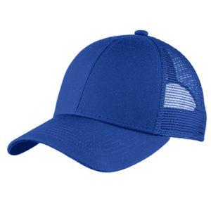blue cap, white background