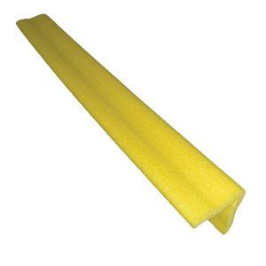 yellow corner cushion, white background