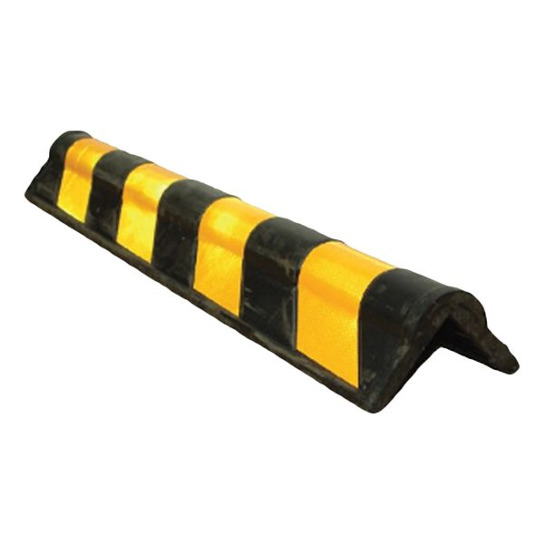yellow strength rubber with black stripes, white background