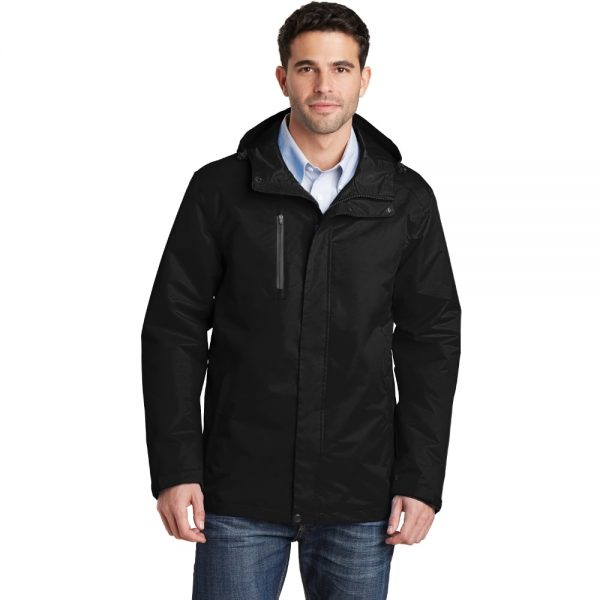 Black All Condition Jacket Model Front, White Background