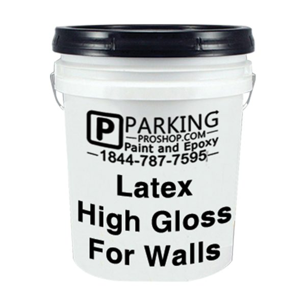 White Latex High Gloss For Walls Gallon, white background