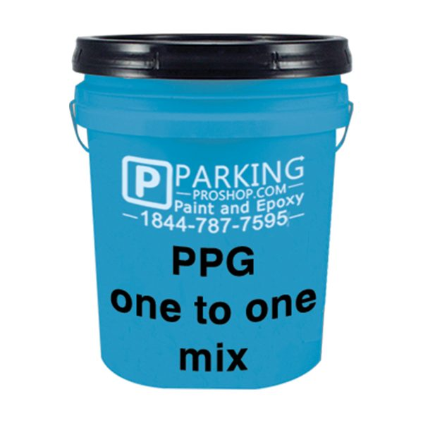 Blue PPG One To One Mix Gallon, white background