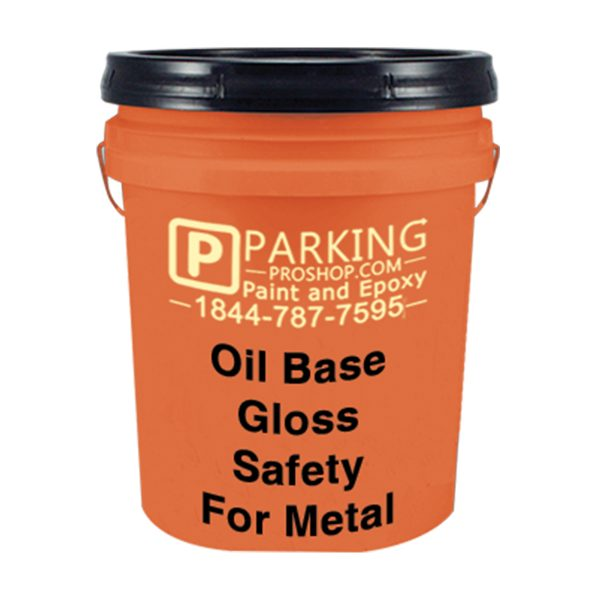 Orange Oil Base Gloss Safety For Metal Gallon, White Background