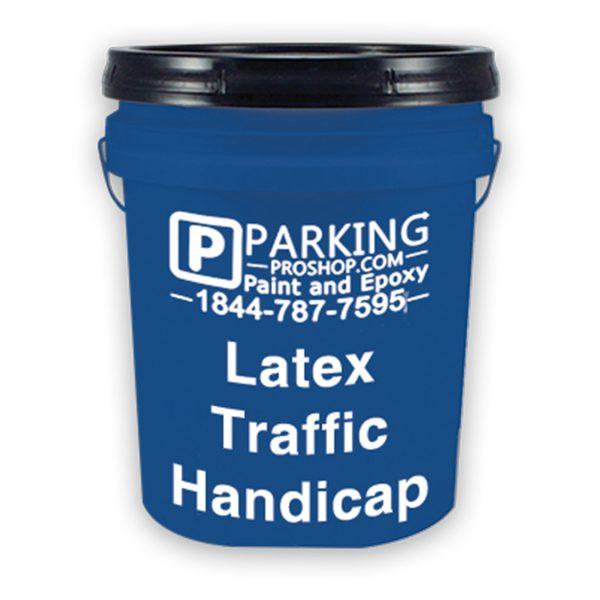 Blue Latex Traffic Handicap Gallon, white background