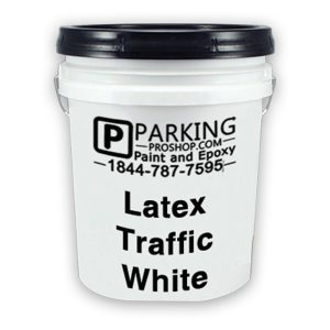 White Latex Traffic Gallon, white background