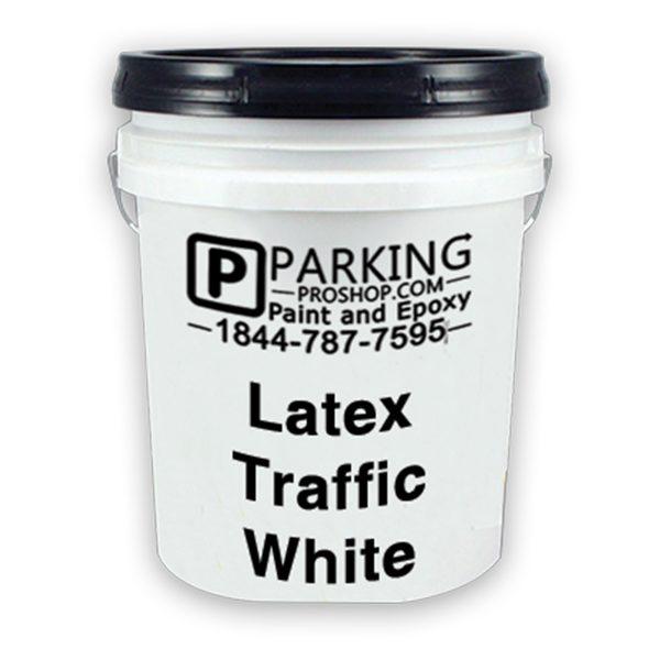 White Latex Traffic Gallon, white background